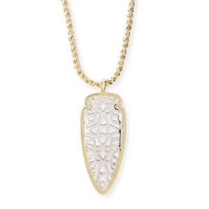 Kendra Scott Sienna Silver Arrowhead Necklace